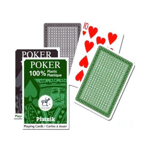 Plasztik póker kártyacsomag 1×55 lapos barna-zöld kivitelben – Piatnik