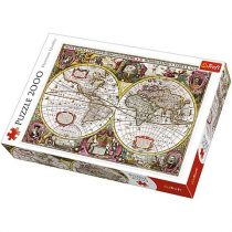 A New Land and Water Map of the Entire Earth 1630 puzzle 2000db-os