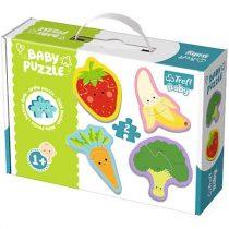 Zöldségek és gyümölcsök bébi puzzle szett